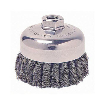 Weiler General-Duty Knot Wire Cup Brushes - 6