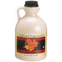 Highland Sugarworks Pure Organic Grade A Dark Amber Maple Syrup, 32-Ounce Jug