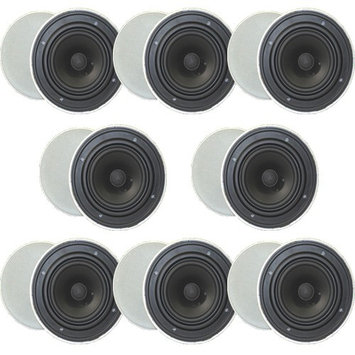 Goldwood Sound GH-65 1600 W RMS Speaker - Black, White - 45 Hz to 20 kHz - 8 Ohm - In-wall, In-ceiling