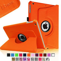 Fintie Rotating Stand Case Cover with Auto Sleep / Wake Feature for iPad Air / iPad 5 (5th Generation), Orange
