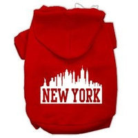 Mirage Pet Products New York Skyline Screen Print Pet Hoodies Red Size XL (16)