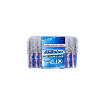 ACDelco AC061 100 of AAA Alkaline Batteries with Recloseble Box