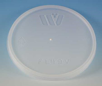 WINCUP FL49V Disposable Lid, Vented, Translucent, PK 500