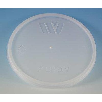 WINCUP FL49V Disposable Lid, Vented, Translucent, PK 500