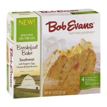 Bob Evans Breakfast Bake Southwest with Peppers, Egg, Cheese & Hash Browns - 4  CT