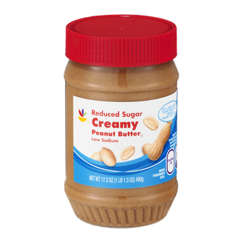 Ahold Reduced Sugar Creamy Peanut Butter Low Sodium