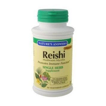 Nature's Answer Reishi Mushroom Mycelia Vegetarian Capsules, 90-Count