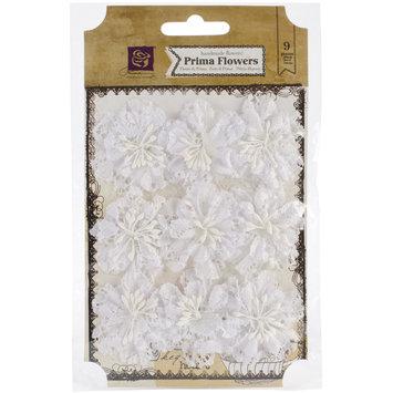 Prima Marketing, Inc. Chantelle Fabric & Paper Flowers Medallion 1.5