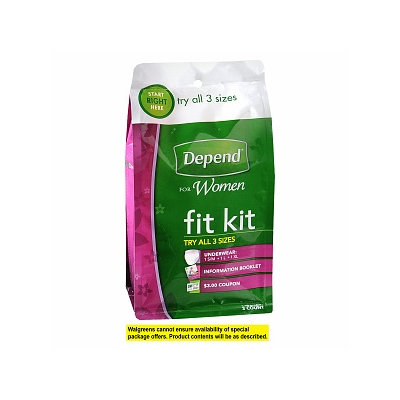 Depend for Women Fit Kit-Try All Three Sizes!