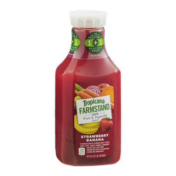 Tropicana® Farmstand 100% Fruit & Vegetable Juice Strawberry Banana