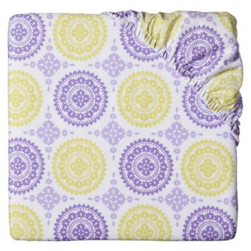 Purple Medallion Fitted Crib Sheet by Circo