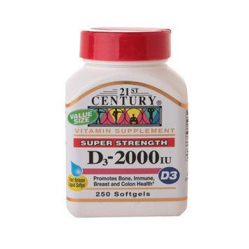21st Century Vitamin D3 2000 IU