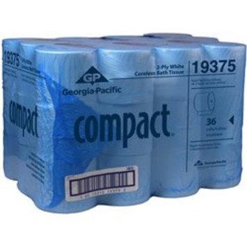 Georgia Pacific Georgia-Pacific Compact 19375 Coreless 2-Ply Bathroom Tissue (Case of 36 Rolls 1000 Sheets Per Roll)