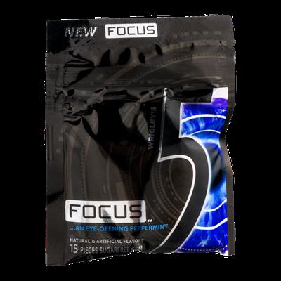 Wrigley's 5 Focus Sugarfree Gum Focus Eye-Opening Peppermint - 15 CT