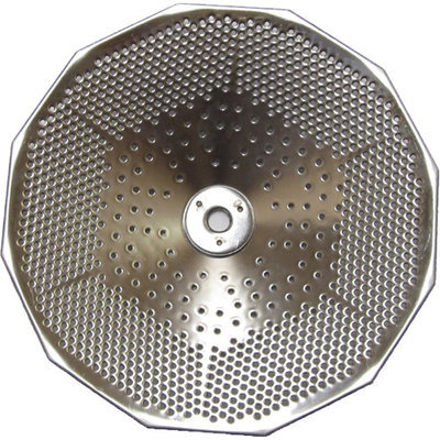 L. Tellier Replacement Grid/Grill Plate, Stainless Steel, For X3 5 Qt. Mouli Mill - Fine (1.5mm Holes)