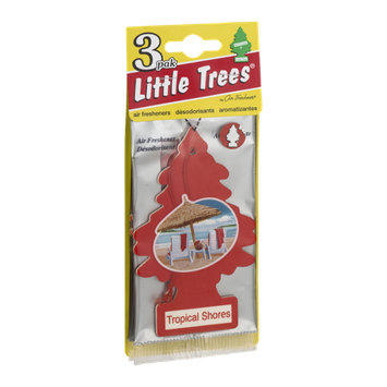 Little Trees Air Fresheners Tropical Shores - 3 CT