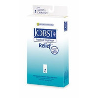 Jobst Relief 20-30 mmHg Unisex Open Toe Knee High Support Sock with Silicone Top Band Size: X-Large Full Calf