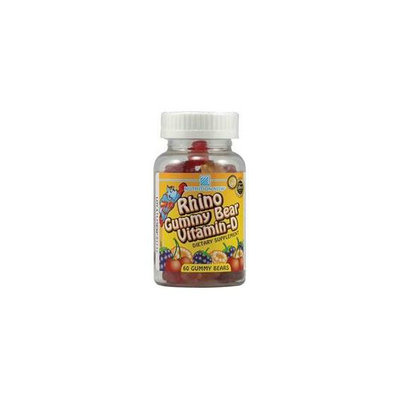 Nutrition Now Children's Supplements Rhino Vitamin-D 60 chewable gummies Daily Products 223108