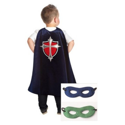 Little Adventures Prince Cape With Hero Mask Navy/Green