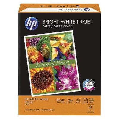 HP 8-1/2 x 11 Bright White Inkjet Paper, 97 Brightness, 24lb- 500