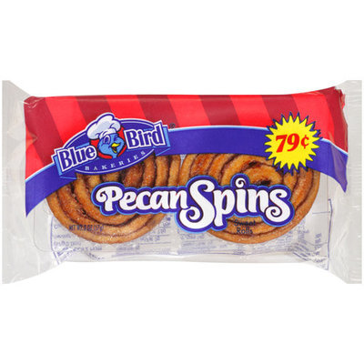Blue Bird Bakeries Bluebird Pecan Spins Sweet Rolls, 2 count