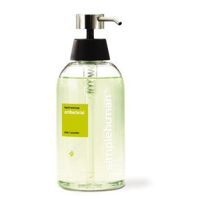 simplehuman Antibacterial Liquid Hand Soap, Aloe plus Cucumber, 15 Fluid Ounce (Pack of 2)