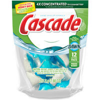 Cascade Actionpacs Fresh Scent Dishwasher Detergent