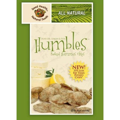 Good Health Humbles, Baked Hummus Chips, Olive Oil Lemon & Feta, 3.5-Ounce Bags (Pack of 12)