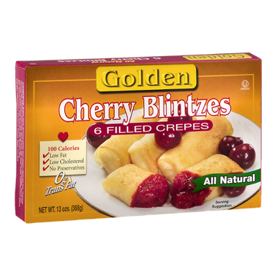 Golden Filled Crepes Cherry Blintzes - 6 CT