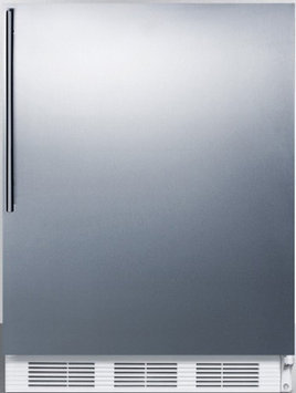 Summit FF61BISSHVADA 5.5 Cu. Ft. Built-In Undercounter All-Refrigerator with Stainless Steel Wrapped Door Thin Handle Interior Light Fruit and Vegetable Crisper in