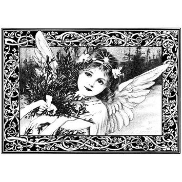 Cam Consumer Products, Inc. Crafty Individuals Unmounted Rubber Stamp An Adorable Christmas Angel