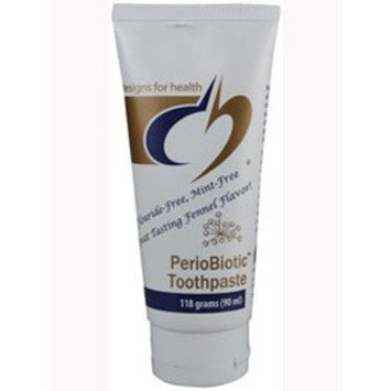 Designs for Health Periobiotic Toothpaste, Fennel Flavor, 118 Gram