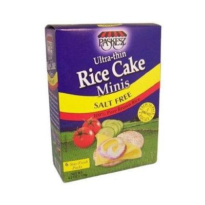 Paskesz Ultra-thin Rice Cake Minis Salt Free-4.2 oz.