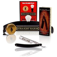 DOVO 504B 5/8 Col Conk Straight Razor with Full Shaving Set Package By GB Buckingham & Sons