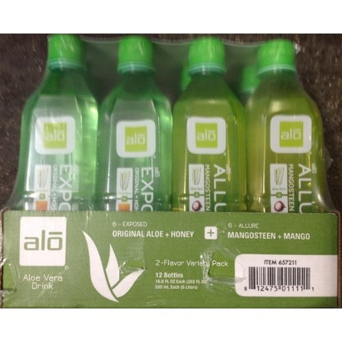 alo Sport ALO Aloe Vera Drink Original 6 Aloe and Honey 6 Mongosteen and Mango