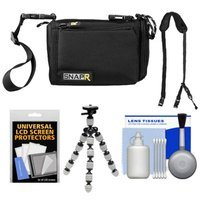 BlackRapid SNAPR 20 3-in-1 Compact Digital Camera Bag, Sling & Hand Straps with Flex Tripod + Accessory Kit