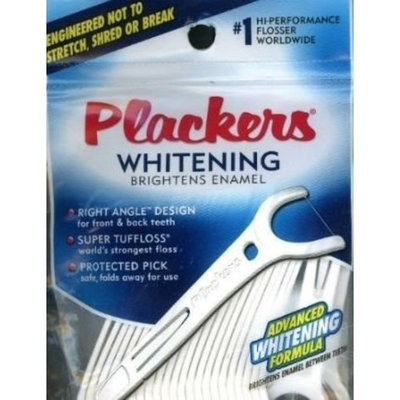 Plackers Whitening Right Angle Flossers - 25 Count