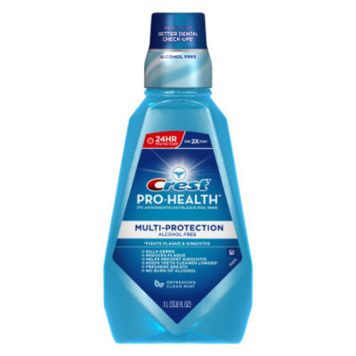 Crest Pro Health Multi Protection Oral Rinse Clean Mint Rinse - 1 Liter