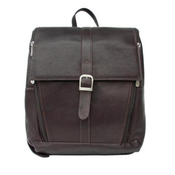 Piel Leather Backpack w Padded Laptop Compartment in Black