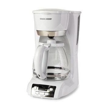 Black & Decker 12-Cup Programmable Coffee Maker, White