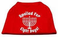 Ahi Spoiled for 8 Days Screenprint Dog Shirt Red XXL (18)