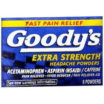 Goody's Extra Strength Headache Powders, 6 Count (Pack of 24)