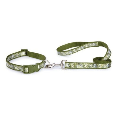 East Side Collection Nylon Carolina Dog Lead, 5/8-Inch, Green