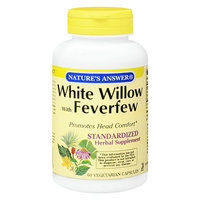 Nature's Answer White Willow with Feverfew Standardized Herbal Supplement Capsules