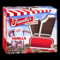 Friendly's Friendwich Vanilla Ice Cream Sandwich - 6 CT