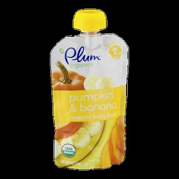 Plum Organics Organic Baby Food Pumpkin & Banana Stage 2