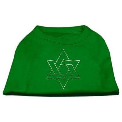 Ahi Star of David Rhinestone Shirt Emerald Green XL (16)