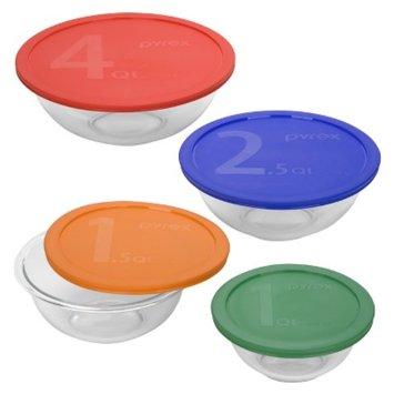Pyrex Smart Essentials Mixing Bowl Set 8 piece