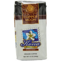 Copper Moon Kona Blend Medium Roast, Ground Coffee, 12-Ounce Bags (Pack of 3)
