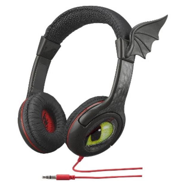 SDI Technologies License On-the-Ear Dragon Headphones - Black (TD-140)